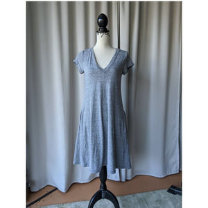 Current/Elliott V Neck T Shirt Dress Grey Size 1
